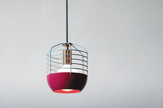 Industrial Design: Atelier Takagi - Photo 2 of 6 - Takagi's Bluff City pendants are work lights with a kick of color and a hint of copper.