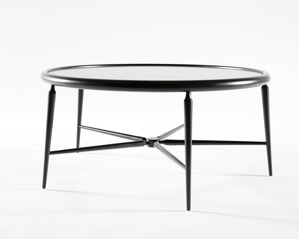 The slim profile of Takagi's five-legged American Gothic table debuted at Bernhardt Design's ICFF Studio in 2009.