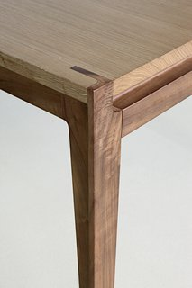 Getting Technical: 5 Types of Wood Joints You Should Know - Photo 3 of 5 - Stephane Lebrun's Assemblage Table shows an example of precise mortise and tenon joinery.