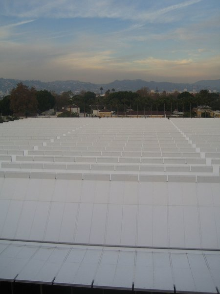 Here's a view of the roof extending off to the mountains. It has rather an appealing sense of infinity.