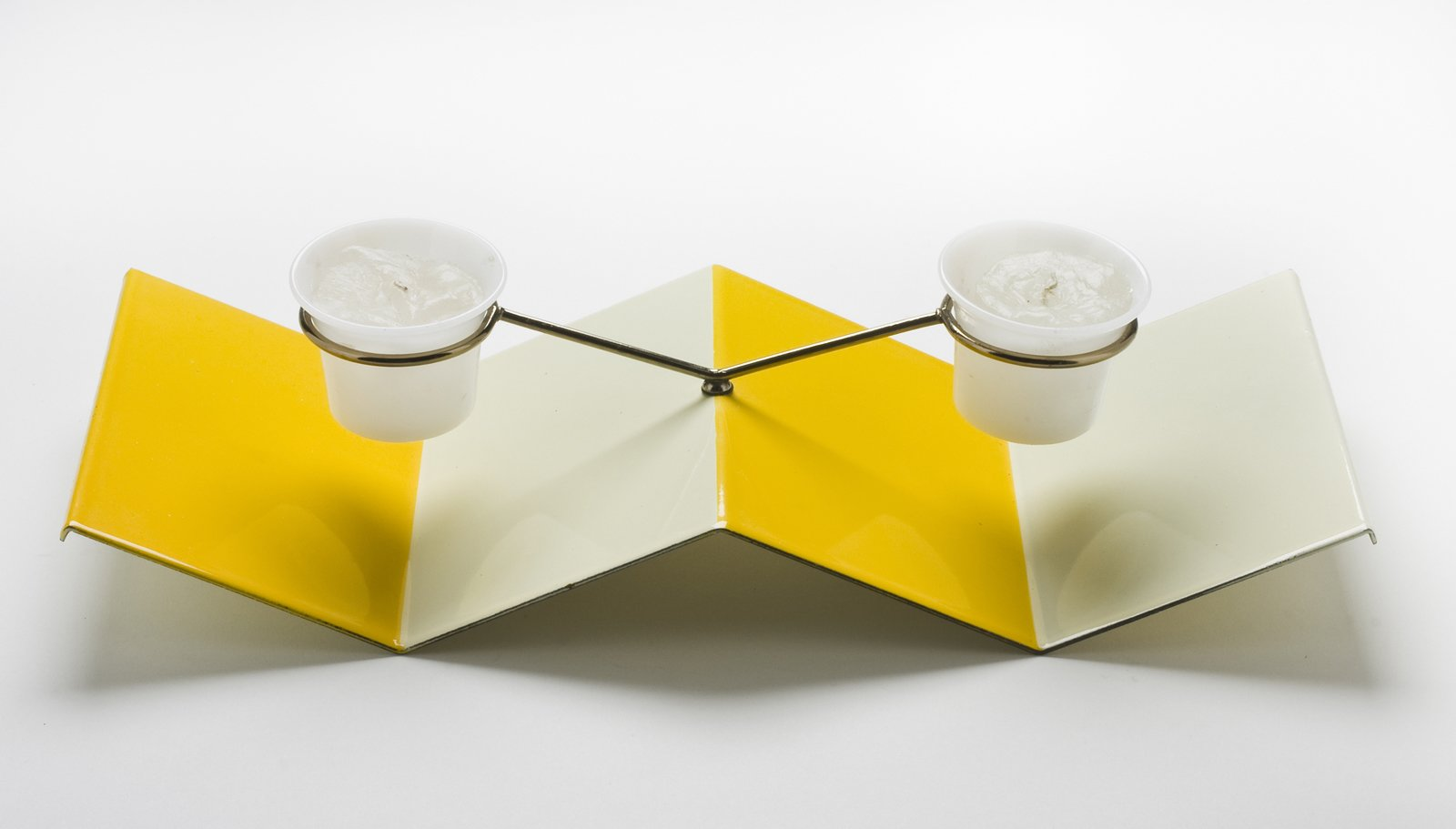 Table Top Candle Holder, porcelain enamel on steel, Jerome Ackerman, 1958.  A Marriage of Craft and Design by Miyoko Ohtake
