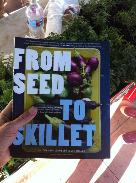 Our inspiration was 'From Seed to Skillet,' by Jimmy Williams, who is a fixture at the local Hollywood Farmers Market where we get our edibles.