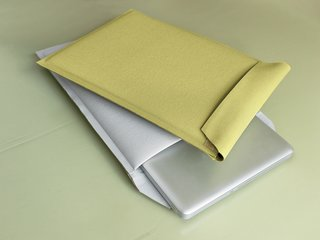 Högner designed Envelopes to store laptops because she couldn't find any sleeves she liked--and that protected the laptop if it fell--on the market.