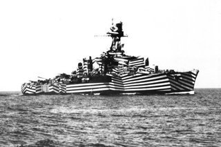 Friday Finds 1.14.11 - Photo 8 of 9 - A WWII ship as seen on Dazzle Camouflage.