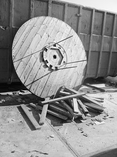 This Home Takes Recycling to the Next Level - Photo 9 of 13 - One of the original cable reels.