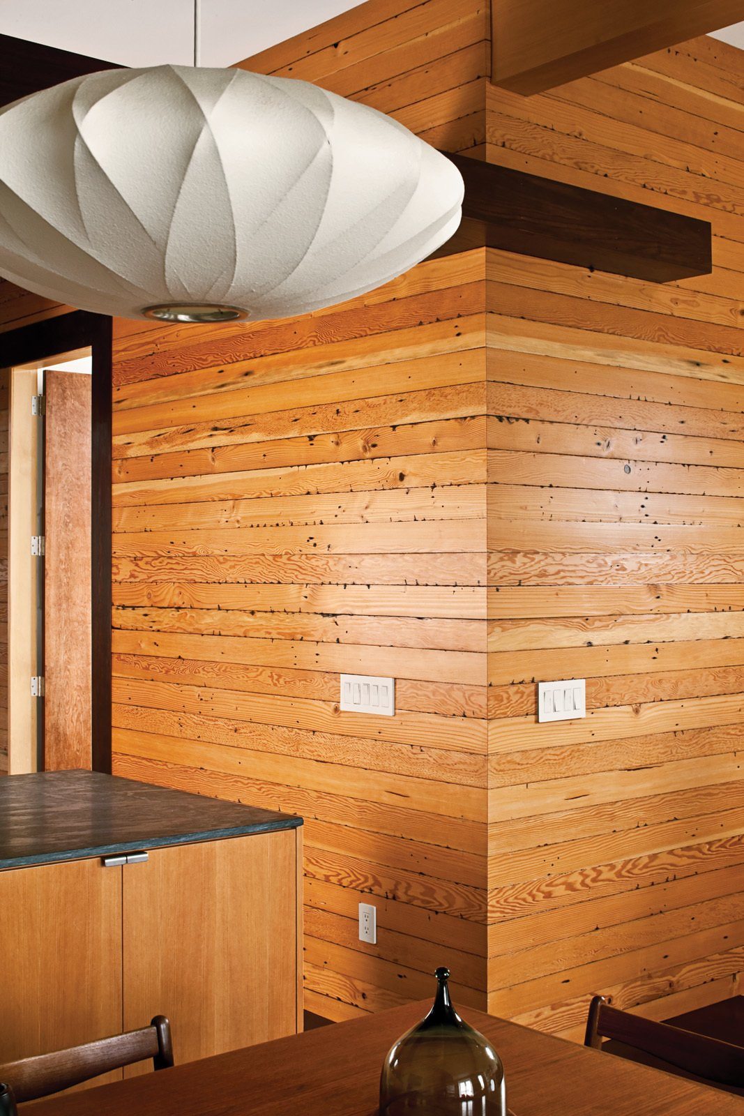 Janna Stark House - Charred Studs  Photo 1 of 1 in Wood-Paneled Interior in a San Francisco Victorian