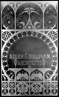 Glass window panel from the firm of Adler & Sullivan. Photo courtesy of The Richard Nickel Committee and Archive.
