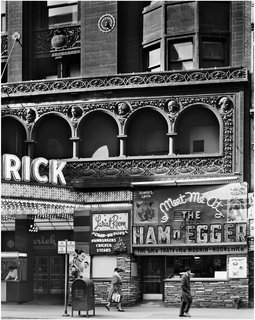 Schiller Building (later Garrick Theater), Chicago, Illinois, built 1891. Photo courtesy of The Richard Nickel Committee and Archive.
