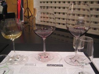 Wine Tasting with Georg Riedel - Photo 5 of 5 - The stars of the show: (from left) Montrachet, Grand Cru Burgundy, Grand Cru Bordeaux.