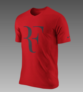 Roger Federer's Personal Logo? - Photo 3 of 3 - You can get this tee, with the Federer logo, on Nike's website right now. I even think it's on sale.