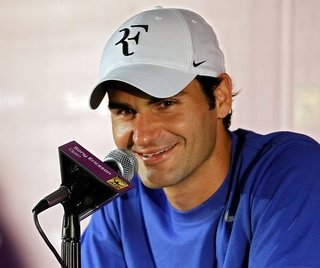 There's that logo on Fed's cap.
