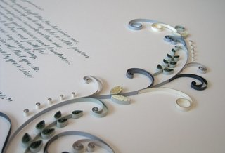 Friday Finds 1.28.11 - Photo 2 of 5 - A quilled marriage certificate featured on All Things Paper.