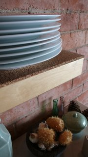 A Crash Course on Cork: The Eco-Friendly Material That's Popping Up Everywhere - Photo 4 of 8 - Cork works well as a shelf liner or cushion in high-impact areas.