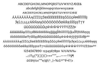 The designer's sans-serif typeface, Carter Sans, partly inspired by fellow typographer Berthold Wolpe.