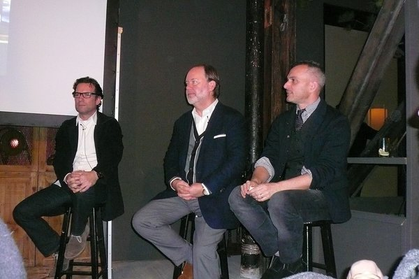 From left, Cass Calder Smith, Stephen Brady, and Charles d'Isle.