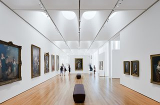 Most of the galleries at the new North Carolina Museum of Art are naturally daylit.