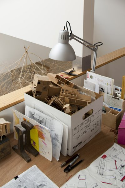 """The most difficult part of designing his own home was learning when to put the breaks on. """"I made so many models and went through so many ideas,"""" Hale says. When he finally accepted the budgetary and physical realities of the project, then the shape of the structure appeared naturally."""