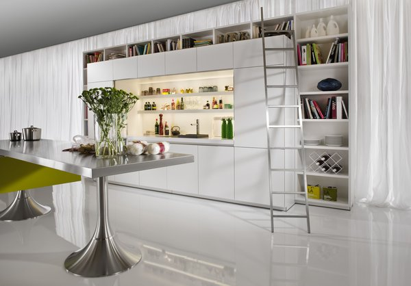 Philippe Starck's modern Library Kitchen won an imm Cologne 2011 Interior Innovation Award.