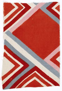 Art and Fashion by Sonia Delaunay - Photo 2 of 15 - Tissu simultané no. 186, France, 1926. Block-printed cotton. Musée de l'Impression sur Étoffes, Mulhouse. © L & M SERVICES B.V. The Hague 20100623.