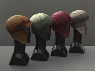 Art and Fashion by Sonia Delaunay - Photo 3 of 15 - Driving caps, France, 1924–28. Silk and wool embroidery on cotton. Musée de la Mode de la Ville de Paris, Galliera. © L & M SERVICES B.V. The Hague 20100623.