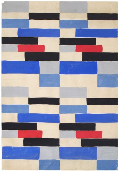 Design B53, designed by Sonia Delaunay, France, date unknown, original design 1924. Gouache on paper. Private collection. © L & M SERVICES B.V. The Hague 20100623. Photo: © private collection.