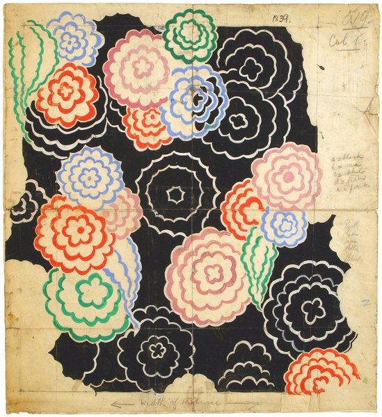 Design 253, designed by Sonia Delaunay, France, 1928–30. Gouache, ink, and pencil on paper. Private collection. © L & M SERVICES B.V. The Hague 20100623. Photo: © private collection.