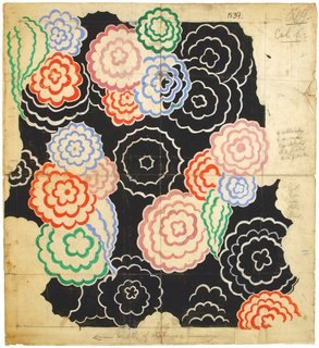 Art and Fashion by Sonia Delaunay - Photo 7 of 15 - Design 253, designed by Sonia Delaunay, France, 1928–30. Gouache, ink, and pencil on paper. Private collection. © L & M SERVICES B.V. The Hague 20100623. Photo: © private collection.