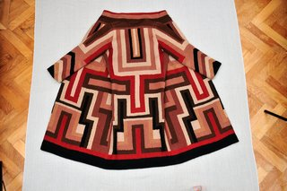 Art and Fashion by Sonia Delaunay - Photo 8 of 15 - Coat made for Gloria Swanson, designed by Sonia Delaunay, France, 1923–24. Wool embroidery on wool. Private collection. © L & M SERVICES B.V. The Hague 20100623. Photo: © Wolfgang Woessner.
