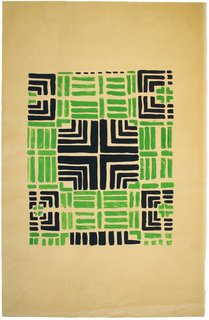Art and Fashion by Sonia Delaunay - Photo 9 of 15 - Variation on Design 1355, designed by Sonia Delaunay, France, 1934. Gouache on paper. Private collection. © L & M SERVICES B.V. The Hague 20100623. Photo: © private collection.