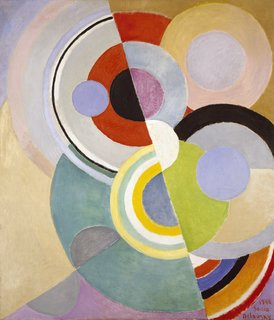 Art and Fashion by Sonia Delaunay - Photo 10 of 15 - Rythme Coloré (Colored Rhythm), painting by Sonia Delaunay, France, 1946. Oil on canvas. Private collection. © L & M SERVICES B.V. The Hague 20100623. Photo: © private collection.