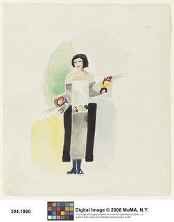 Art and Fashion by Sonia Delaunay - Photo 12 of 15 - Robe poème no. 1328, designed by Sonia Delaunay, France, 1923. Watercolor, gouache, and pencil on paper. Museum of Modern Art, New York. © L & M SERVICES B.V. The Hague 20100623. Photo: © The Museum of Modern Art/ Licensed by SCALA/ Art Resource, NY.