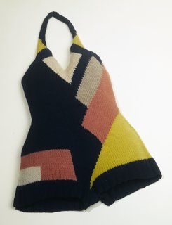 Art and Fashion by Sonia Delaunay - Photo 13 of 15 - Bathing suit, designed by Sonia Delaunay. France, ca. 1928. Knitted wool. Musée de la Mode de la Ville de Paris, Galliera. © L & M SERVICES B.V. The Hague 20100623.