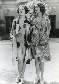 Art and Fashion by Sonia Delaunay - Photo 14 of 15 - Models wearing beachwear designed by Sonia Delaunay, 1928. Private collection. © L & M SERVICES B.V. The Hague 20100623. Photo: © private collection.