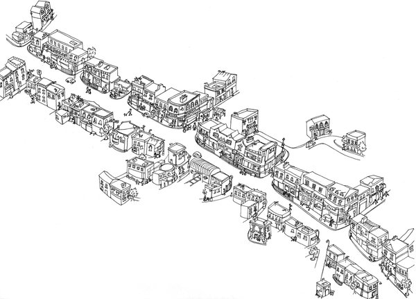 A hand-drawn map of London via @londonist.