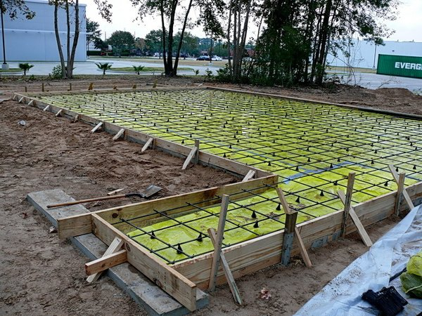 Here's what the foundation looks like before the concrete is poured. Photo ©2011 epic software group, inc.