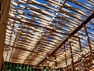 An 'Epic' Container Co-op - Photo 17 of 18 - A beautiful shot of the roof's framing. Photo ©2011 epic software group, inc.