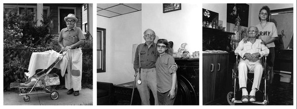Milton Rogovin's Lower West Side Triptychs are currently on view at the Burchfield Penney Art Center.