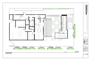 "The plan of the Shoup residence designed by Stephen Shoup of building Lab inc.""<br><br>Don't miss a word of Dwell! Download our  FREE app from iTunes, friend us on Facebook, or follow us on Twitter!"
