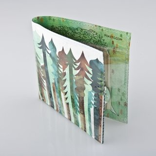 From the new Spring Forward collection, Jolby's forest-themed wallet design.