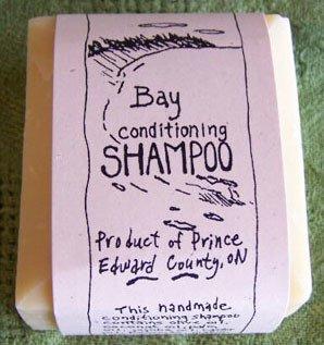 "Honey Pie's Bay Conditioning Shampoo. ""Just rub on wet hair."""