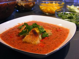 Gazpacho with Homemade Croutons - Photo 1 of 2 -