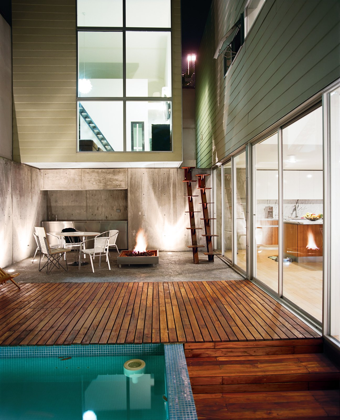 The inner courtyard is the core of the home.  Modern Pool Design by Dwell from Modern in Tijuana