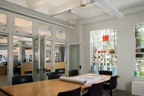 A light interior at Studio Gang HQ.