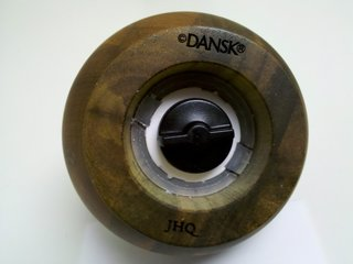 Reissued: Jens Quistgaard Mills - Photo 4 of 6 - Each mill is marked with both the Dansk name and Quistgaard's initials.