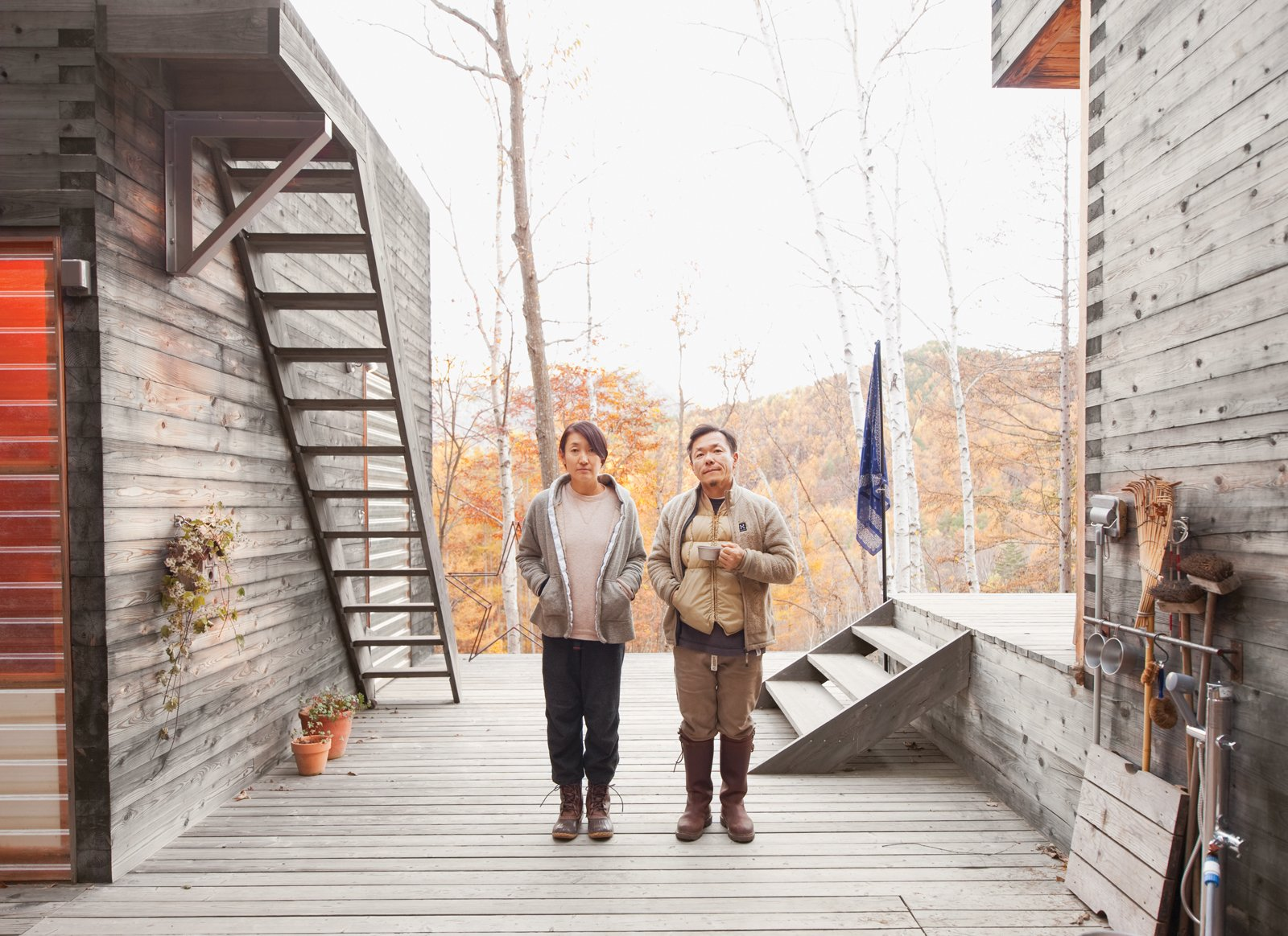 Setsumasa and Mami Kobayashi are ready for adventure.  Photo 7 of 28 in A Platform for Living
