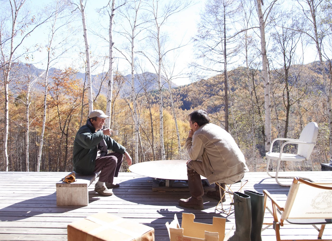 Weekends at the retreat are relaxed, consisting mostly of chopping firewood or sitting around the fire pit on the deck.  Photo 24 of 28 in A Platform for Living