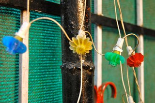 Touring India - Photo 7 of 27 - Colors are everywhere, from women's clothing to food. These simple lights hanging on a house really caught my eye.