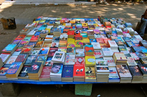 Everything—and I mean everything—is for sale on the streets of India. And like everything else, the wares are always colorful, like these books.