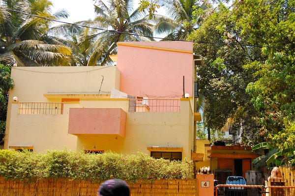 Yet another example of Pune's pastel-colored homes.