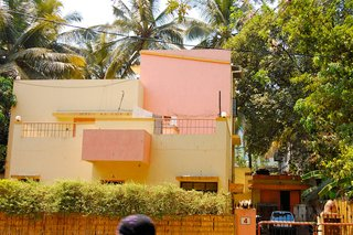 Touring India - Photo 14 of 27 - Yet another example of Pune's pastel-colored homes.